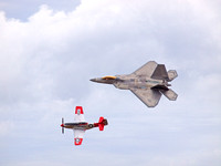 F-22 Raptor And P-51 Mustang Heritage Flight