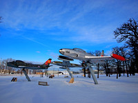 Aviation Heritage Air Park In Winter