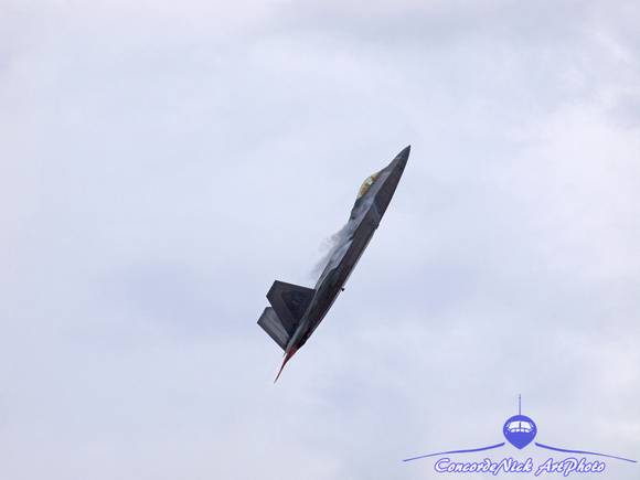 F-22 Raptor Climbs Out