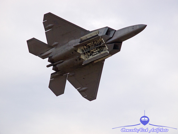 F-22 Raptor Opens Weapons Bay