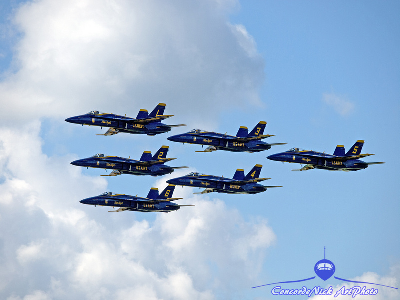 The Blue Angels Formation
