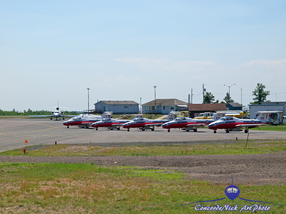 Snowbirds On The Ramp