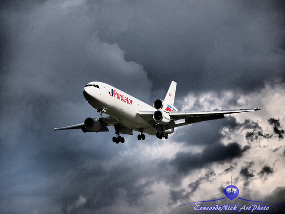 "DC-10, Purolator, ""Kelowna Flightcraft"", Airplane, Aircraft, Aviation, Art, Artwork"