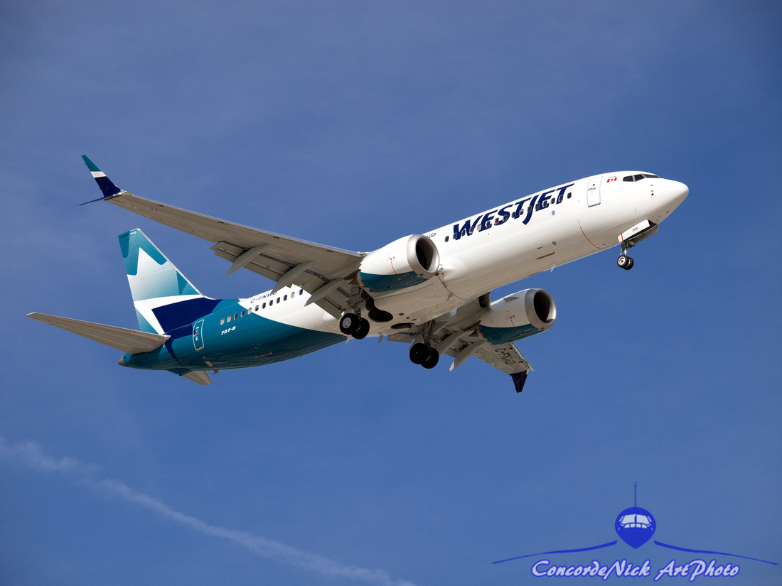 Westjet New Livery Boeing B-737-8 Max