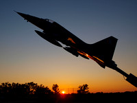 CF-5, F-5, Sunset, Jet, Fighter, Airplane, Aviation, Aircraft