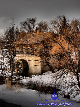 "Winter, Mill, Art, ""Grant's Mill"", Winnipeg, Manitoba, Canada"