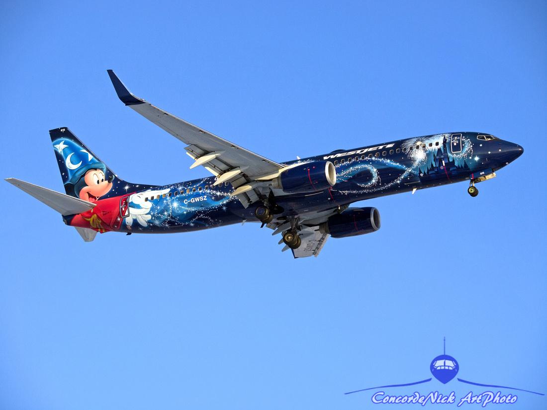 WestJet Disney Magic B-737-800